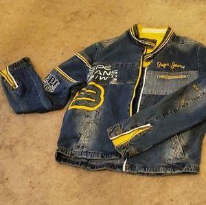 Pepe Jean's denim motorcycle cut jacket